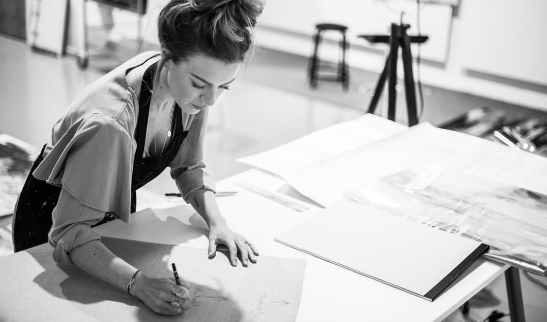 Toni Thornton sketching