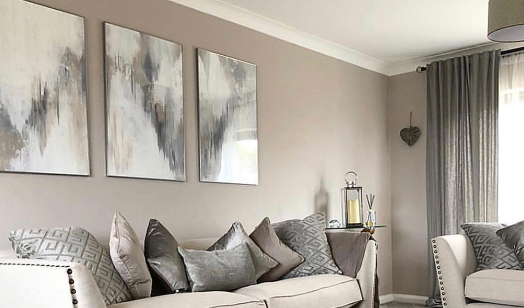 Bespoke artwork on display in living area
