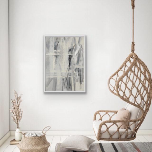 Linen Artwork on Display