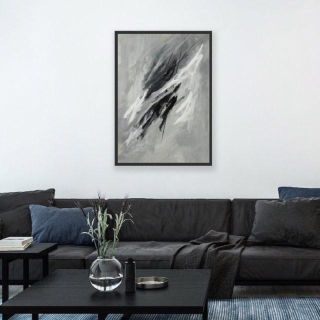 Artwork Behind Sofa
